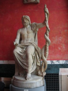Asclepius, the Greek God of Medicine, photo by Nina Aldin Thune